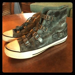 "NWOT Ash Leather ""Virgin"" Buckle Sneakers Shoes"